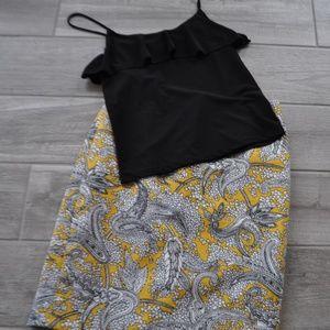J. Crew Paisley Print Pencil Skirt